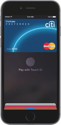 iPhone showing Apple Pay interface